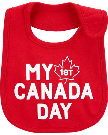 My First Canada Day Teething Bib