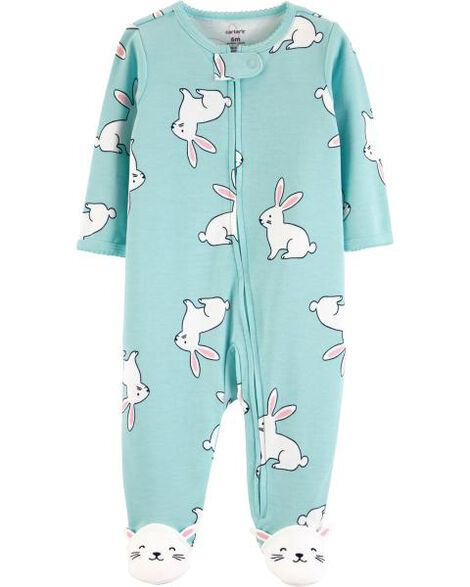 Bunny Zip-Up Cotton Sleep & Play