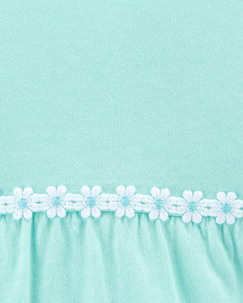 Embroidered Ruffle-Sleeve Tee, , hi-res