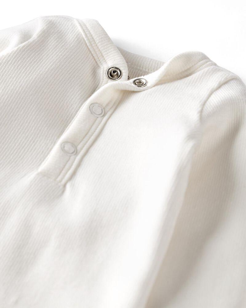 2-Pack Organic Cotton Rib Sleeper Gowns, , hi-res