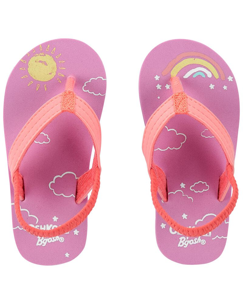 Sunshine & Rainbows Flip Flops, , hi-res