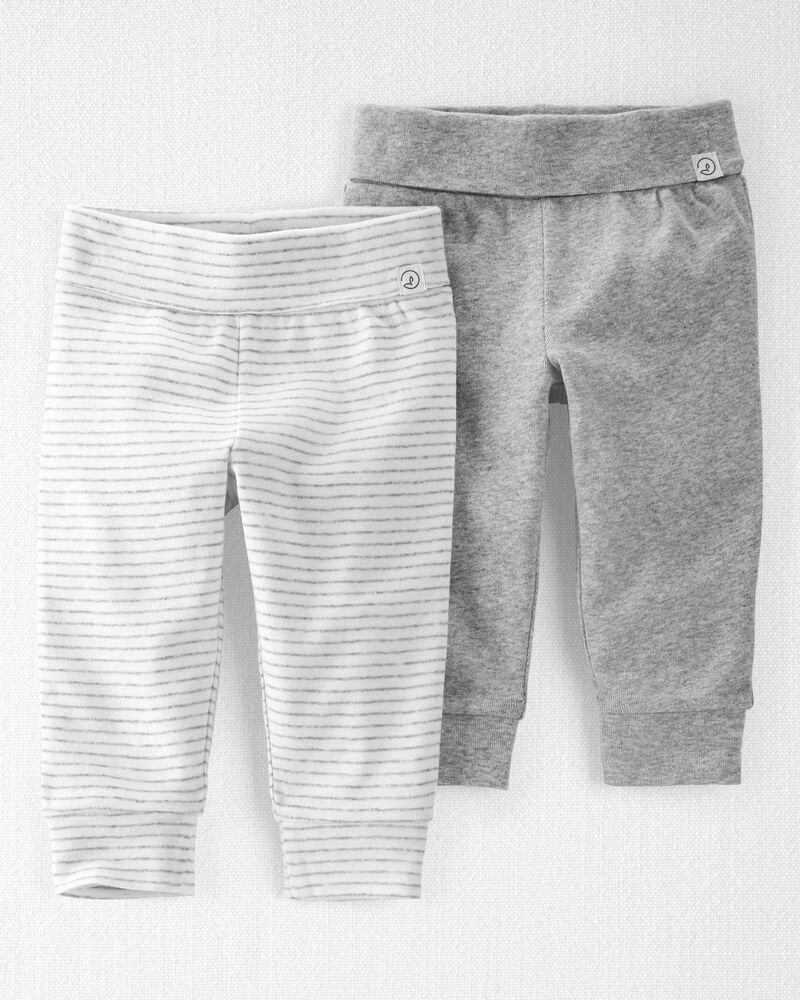 2-Pack Organic Cotton Grow-With-Me Pants, , hi-res