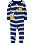 1-Piece 100% Snug Fit Cotton Footless PJs, , hi-res