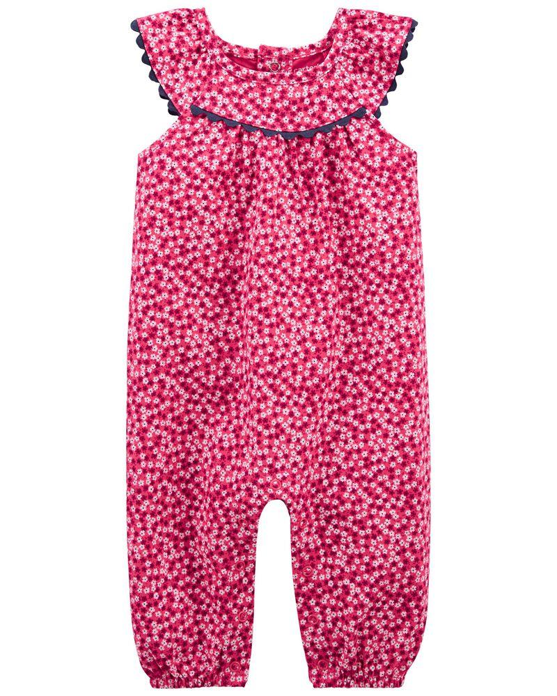 Floral Jumpsuit, , hi-res