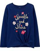 T-shirt à nœud devant Sparkle and Shine , , hi-res