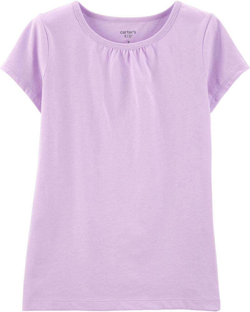 Purple Cotton Tee, , hi-res