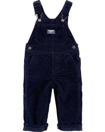 Jersey-Lined Corduroy Overalls