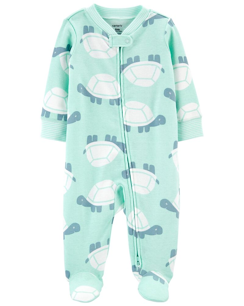 Turtle 2-Way Zip Cotton Sleep & Play, , hi-res