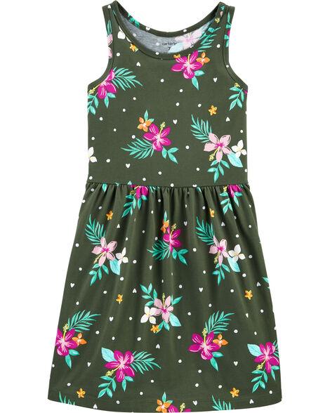 Floral Tank Jersey Dress