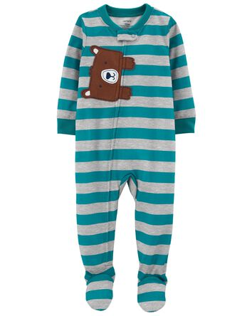 1-Piece Bear Loose Fit Footie PJs