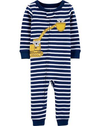 Pyjama 1 pièce en coton ajusté à mo...