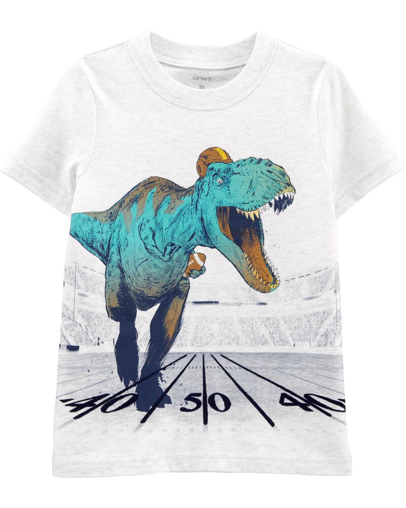 T-shirt en jersey football et dinosaure, , hi-res