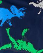 Fleece-Lined Dino Print Rain Jacket, , hi-res