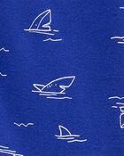 1-Piece Shark 100% Snug Fit Cotton Footie PJs, , hi-res