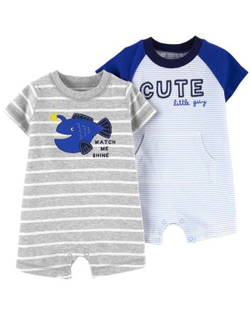 2-Pack Cotton Rompers