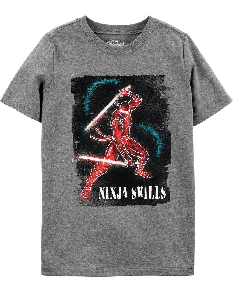 T-shirt à imprimé original qui brille dans le noir, , hi-res