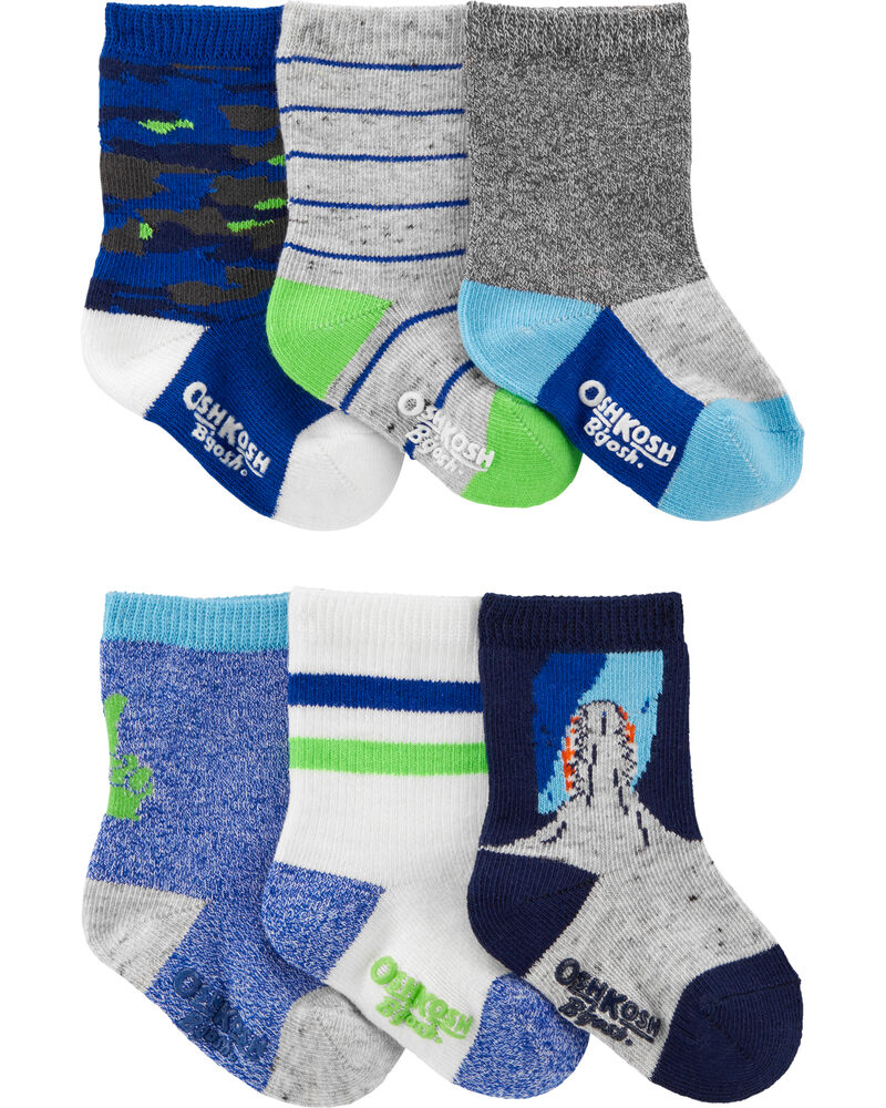6 paires de chaussettes mi-mollet fluo, , hi-res