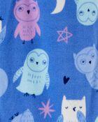 1-Piece Owl Fleece Footie PJs, , hi-res