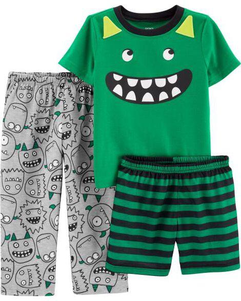 3-Piece Monster Poly PJs