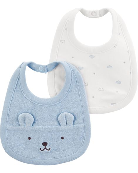 2-Pack Teething Bibs