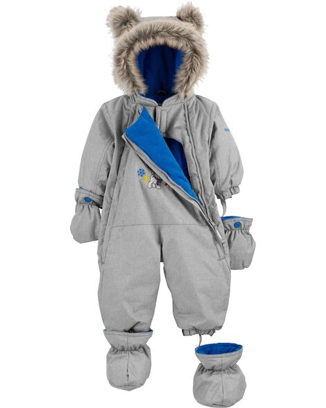 1-Piece Fleece-Lined Infant Snowsuit
