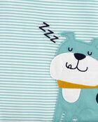Pyjama 3 pièces de coupe ample à chien, , hi-res