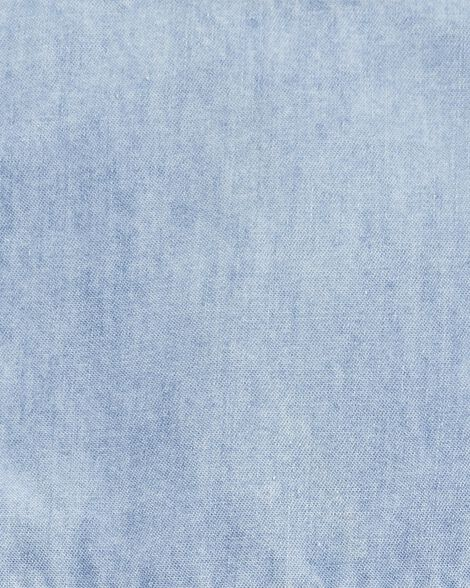 Robe brodée en chambray