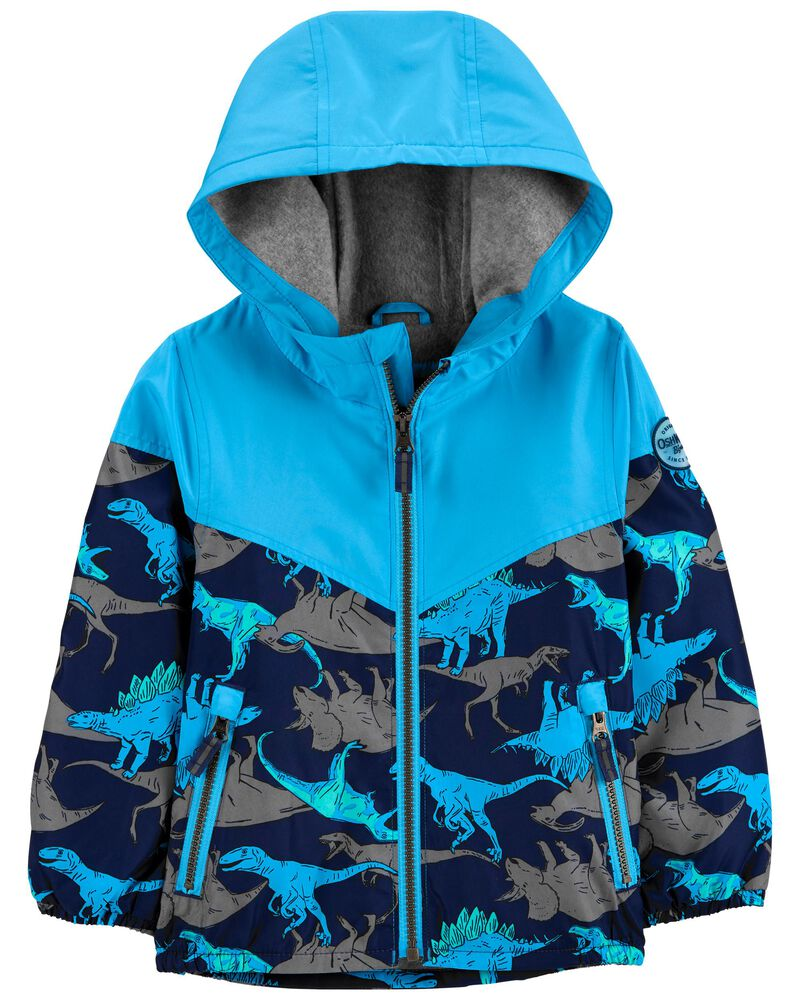 Colourblock Shark Fleece-Lined Midweight Jacket, , hi-res