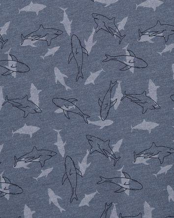 Débardeur à imprimé requin avec poc...