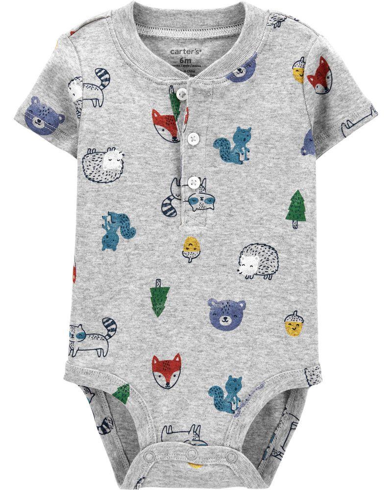 Animals Cotton Bodysuit, , hi-res