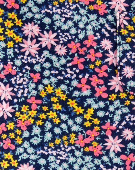 Floral Layered Tulle-Sleeve Pocket Tee