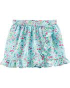 Jupe-short à fleurs, , hi-res