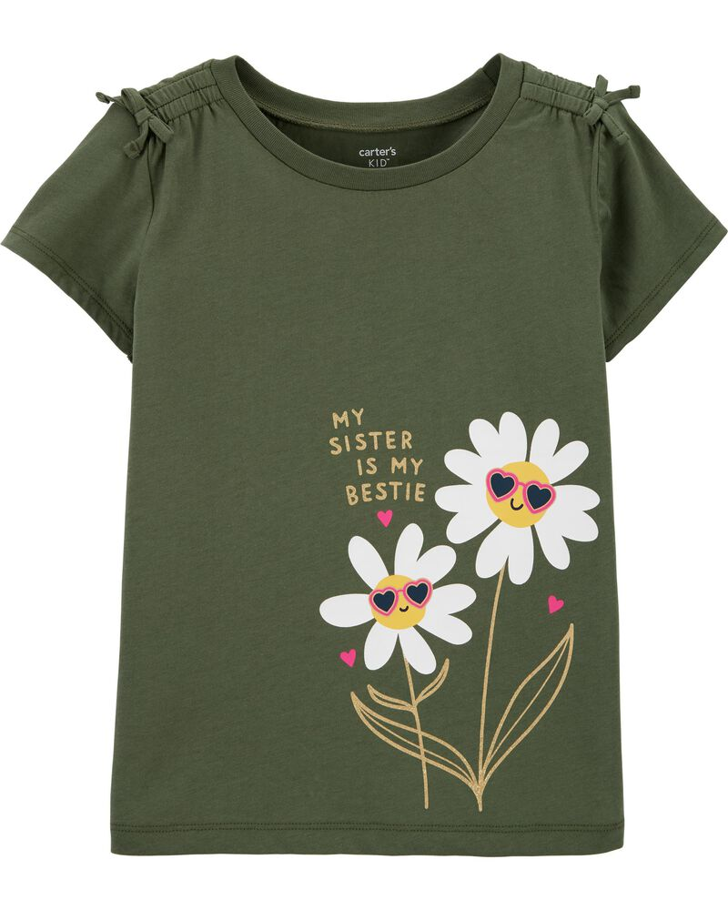 T-shirt en jersey avec marguerites, , hi-res