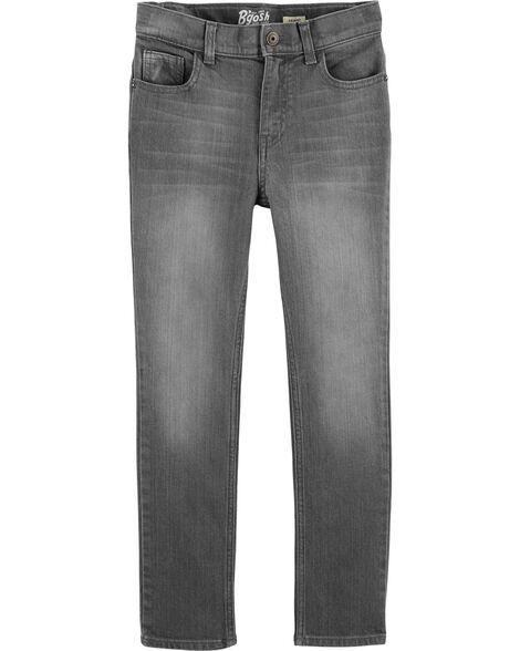 Jeans fuseau - délavage gris crépuscule