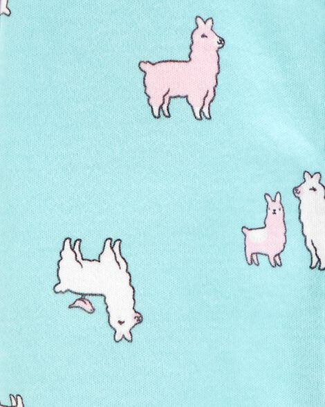 Llama Snap-Up Cotton Cotton Sleep & Play