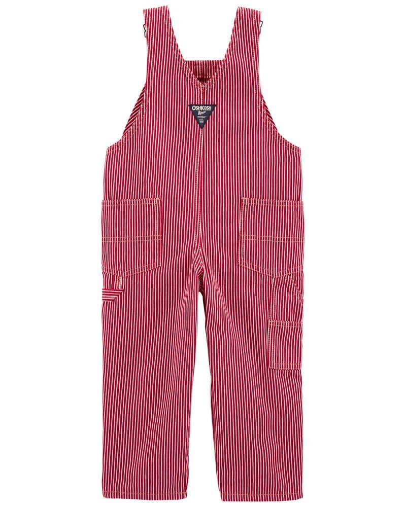 Hickory Stripe Overalls, , hi-res