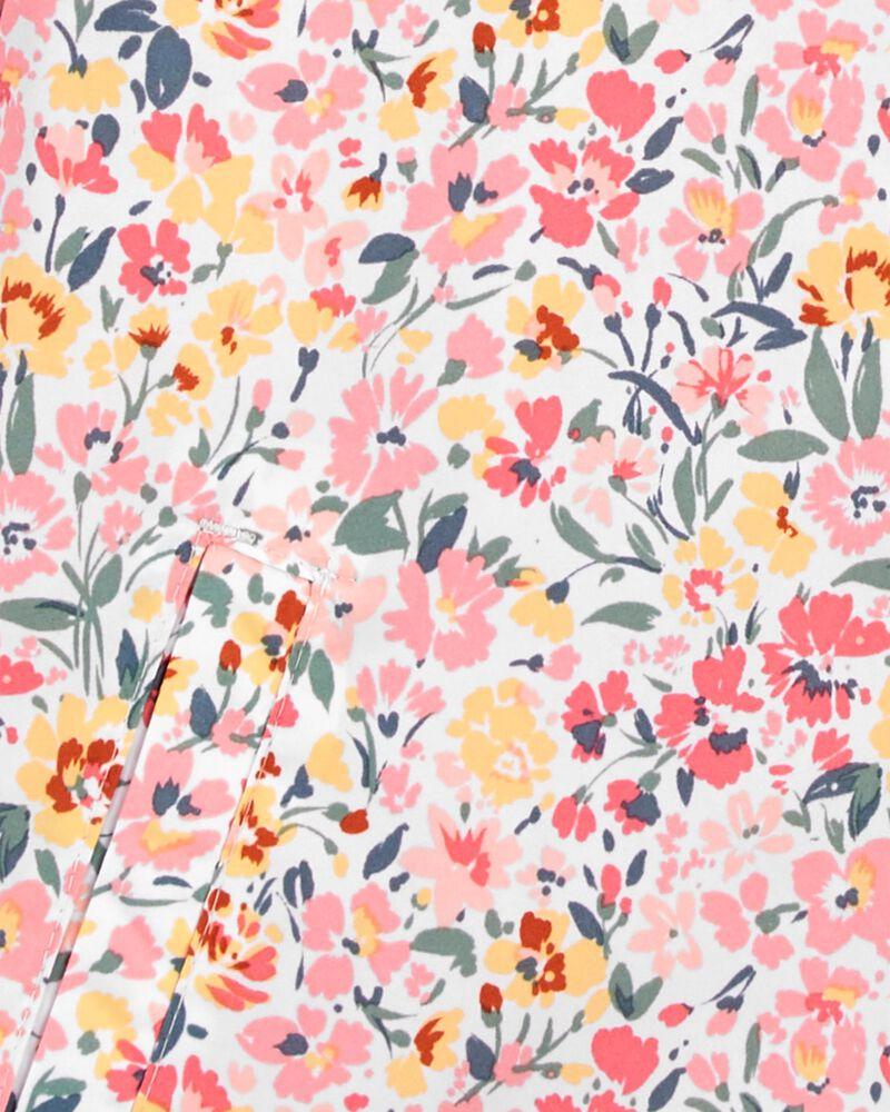 Blouson d'épaisseur moyenne fleuri, , hi-res