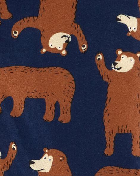 2-Piece Bear Coat Style Fleece PJs