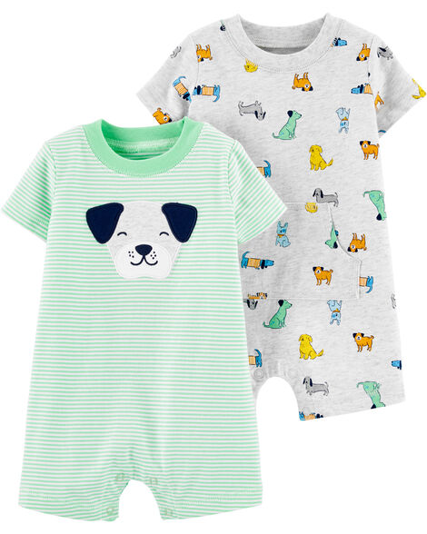 2-Pack Dog Rompers