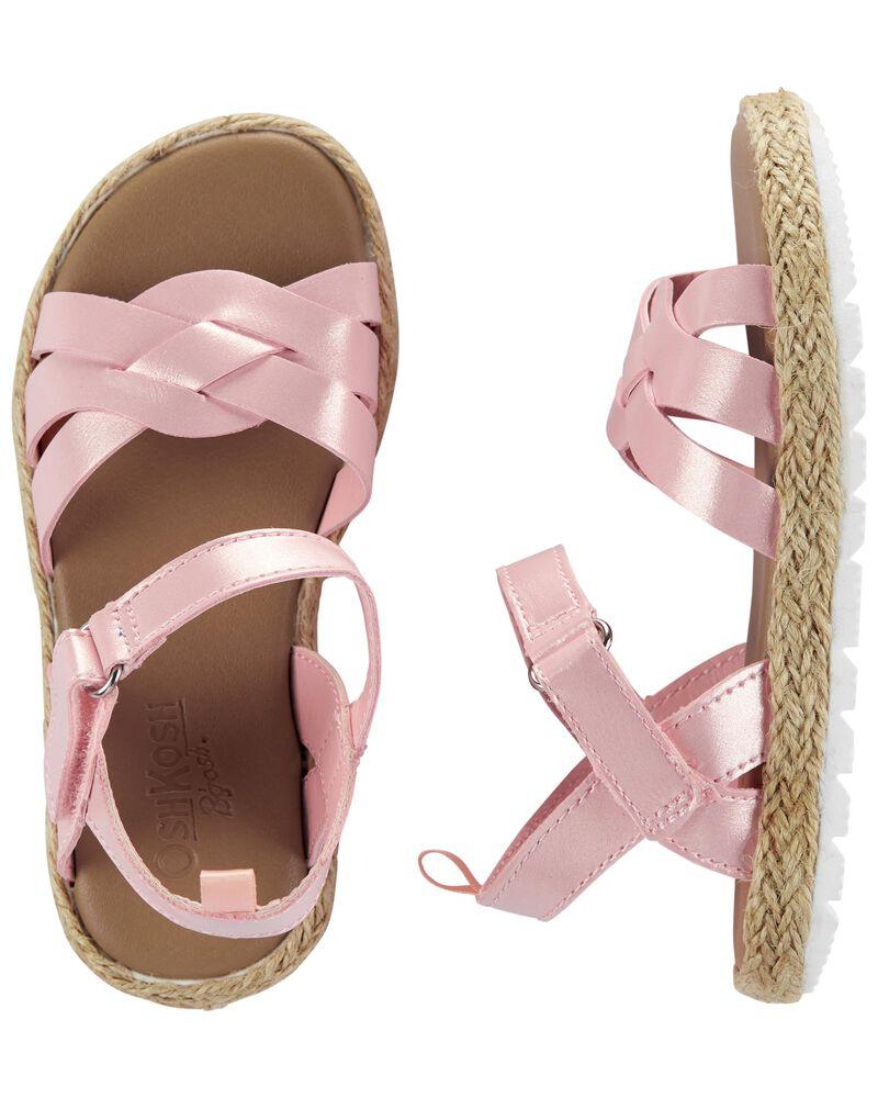Sandales à lanières tressées, , hi-res