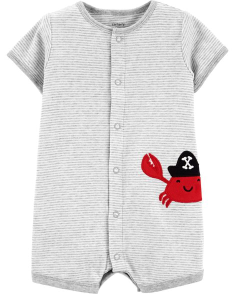 Crab Snap-Up Romper