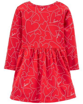 Robe en jersey avec cœurs