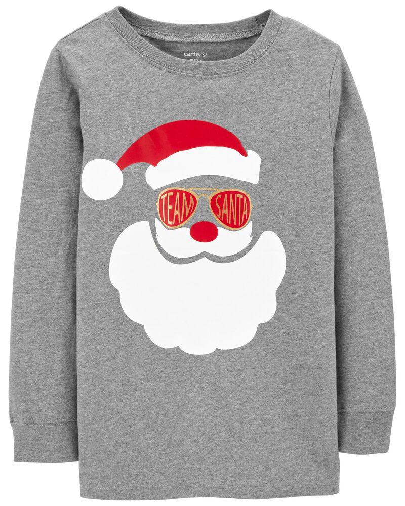 T-shirt en jersey à Père Noël, , hi-res