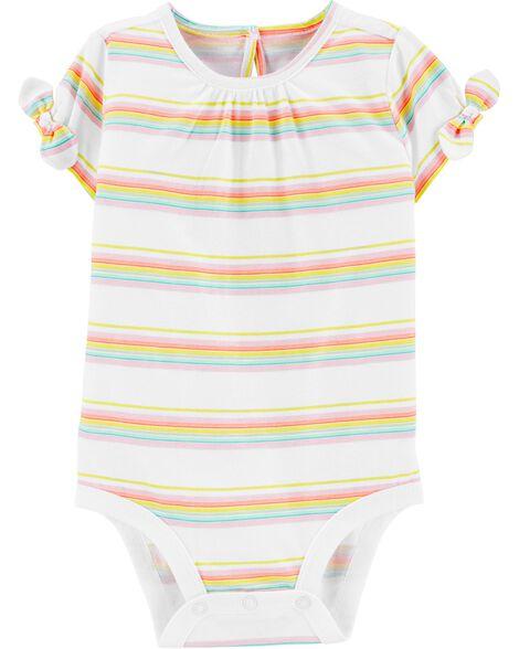 Rainbow Stripe Jersey Bodysuit