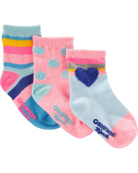 3-Pack Pattern Crew Socks