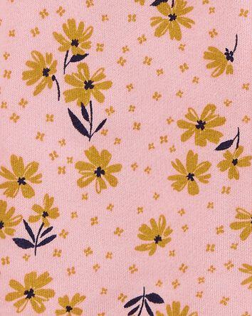 Floral Zip-Up Fleece Jumpsuit