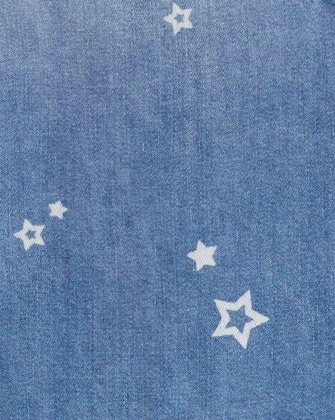 Haut en denim à étoile