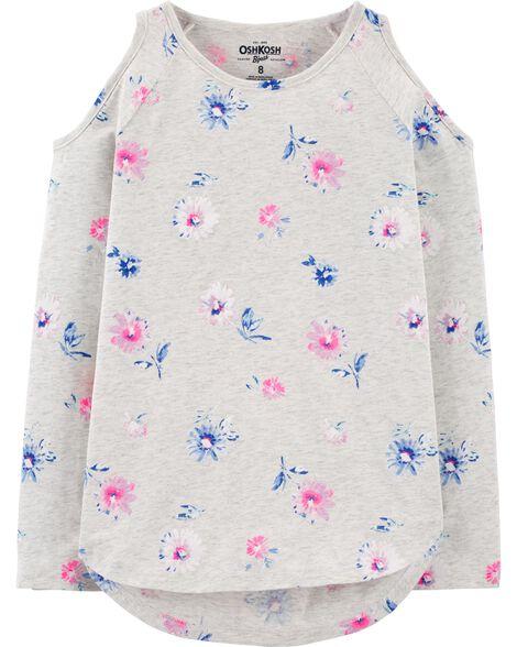 Floral Cold Shoulder Tunic