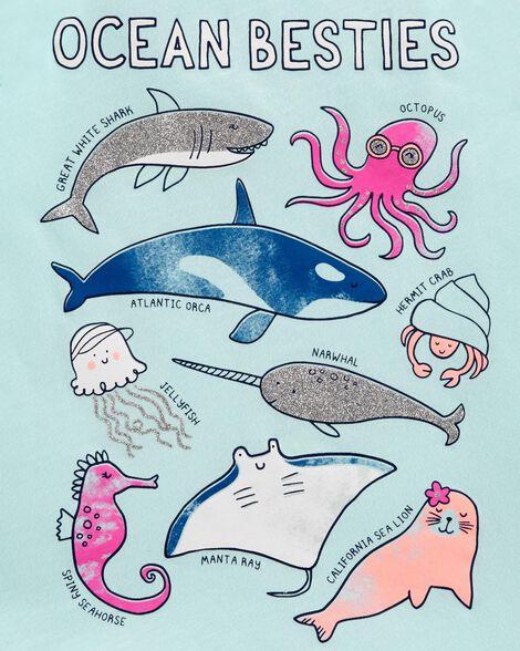 Ocean Besties Glitter Tank
