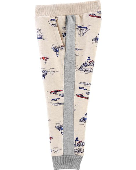 Pantalon en jersey bouclette nautique